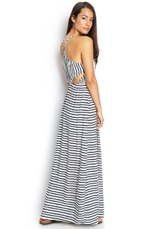 Striped cutout maxi dress from Forever21. This is under $25, casual and sexy at the same time.