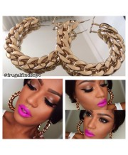 These gold Cuban Link earrings are what you can find at FrugalFinds.