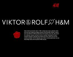 H&M has done some great collaborations with even greater designers. Here is an ad from their Viktor&Rolf collaboration.