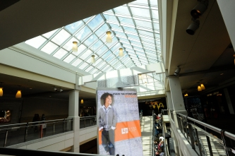 These glass panels gives you a great open air feel while shopping indoors at Kings Plaza Mall.