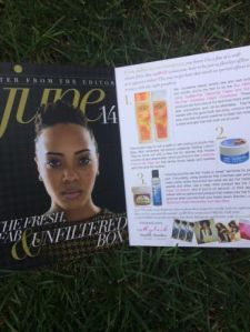On the inside of the Curlbox mag there is a description of all of the products in the month's box along some cute pictures of Myleik, Curlbox's Chief Experience Officer.