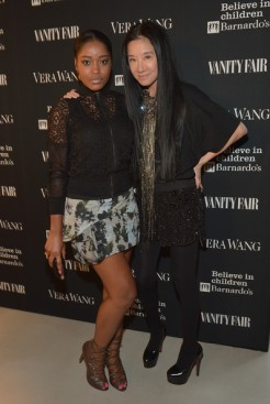 Keke Plamer posed with Vera wang at the opening. Keke wore Vera designs on the red carpet.