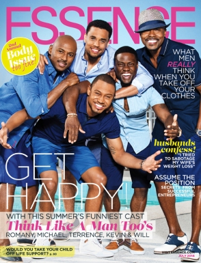"Essence cover highlighting the men of ""Think Like a Man Too""."