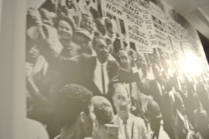 This year is the anniversary of the Civil Rights Act of 1964. This exhibit reminds us of the way things are and the way they used to be.