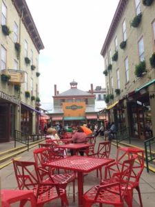 Spent some time at Findlay Market.  This market has a real historic, Parisian feel. Great fruits and veggies on the outside and meats on the inside.
