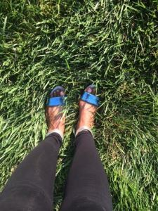 I lived in these H&M sandals that I purchased last Summer for 10 bucks!