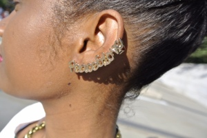 "H&M ""PeaceandLove"" ear cuff."