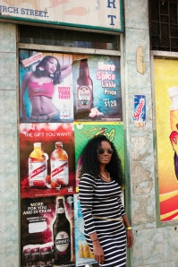 When in Downtown Mobay you take a shot near all of the colorful flyers.