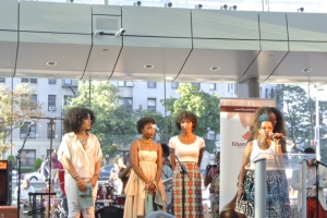 Anu of Khamit Kinks curated a hair show with three natural hair models.