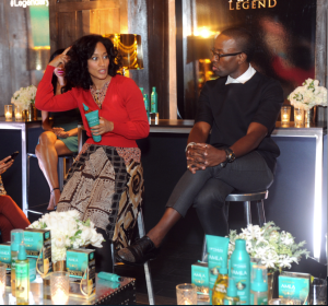 Tracee and stylist, Johnny Wright talking about the Optimum Amla product line.