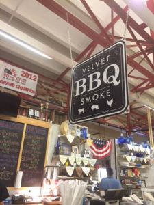 "Inside of Findlay Market I found ""Velvet Smoke BBQ"". I had an amazing pulled pork BBQ sandwich and 3 cheese mac n cheese."