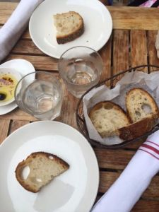 You are first greeted with a great bread basket with olive oil/red pepper flakes.