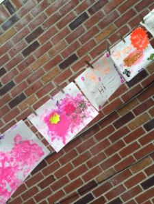 The little ones also showed their creative sides by painting these masterpieces.