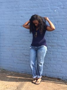 Getting my hair ready in the midst of all the breeze.