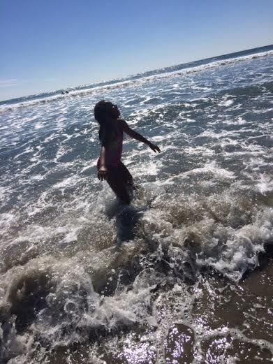 She loved the waves.