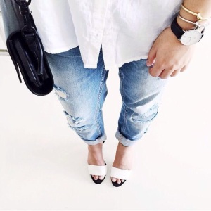 When in doubt, opt for denim and a classic white shirt. You can never go wrong.