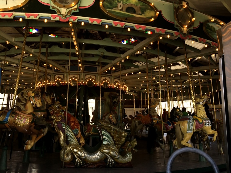 We took the short walk over to the carousel for our fill of happy music and the feel of Paris.