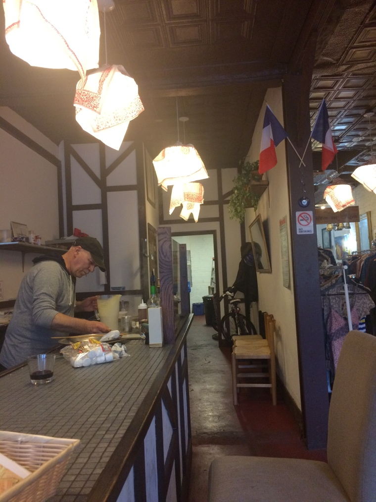 I don't have France but I do have a Frenchman who opened a cute crepe shop very close to home. There he is making my crepes.