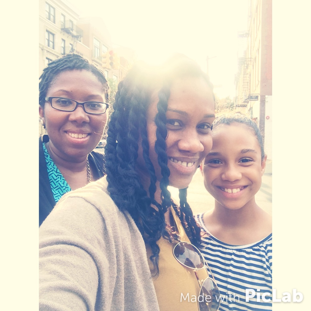 My baby sister, myself and my daughter. Today, I'm more focused on familial wealth (health and financial).